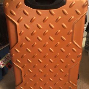Luggage medium large orange hard case durable